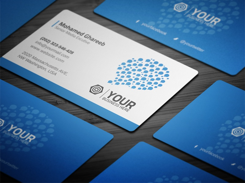 Creative Social Media Business Card by Mohamed - Dribbble