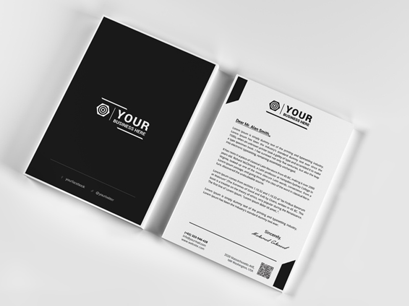 Creative Corporate Letterhead  By Mohamed  Dribbble