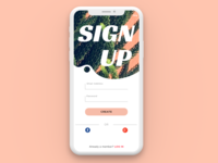 Daily UI #001 Sign Up Screen