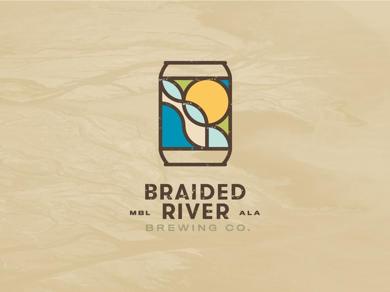 Braided River Brewing Company Identity typography logo brewery logo branding