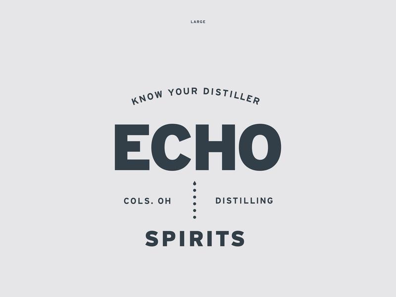Echo Spirits Distilling Identity Elements logo design distillery logo branding typography