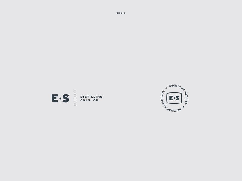 Echo Spirits Distilling Identity Elements design distillery logo logo branding typography