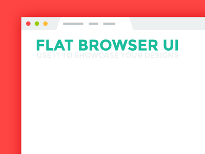 Flat Browser UI - Freebie ui browser flat freebie mockup psd free