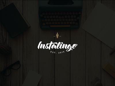 Instalingo brand agency translation lettering retro hipster logo