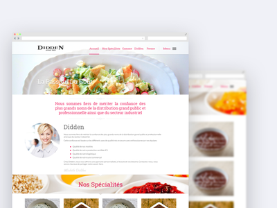 Diddenfood Home food clean web design ui