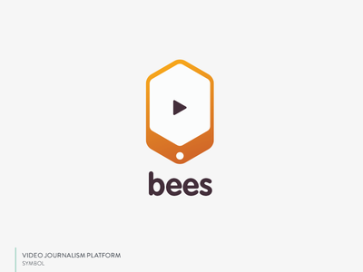 Bees Logo honeycomb video branding logo mobile bee