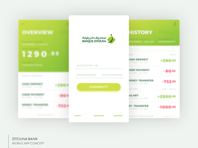 Banking App UI Concept ux ui mobile ios android app balance finance banking bank