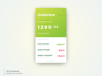 Banking App UI - Overview Screen