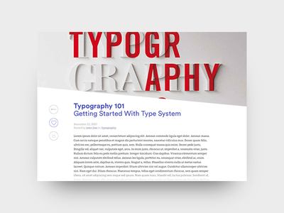 Blog Post typography blog web webdesign ux ui