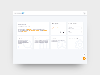 App Dashboard web minimal ux ui dashboard clean
