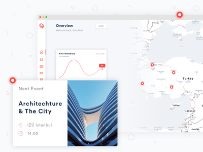 Organization Intranet intranet organization unsplash red clean map dashboard ux ui