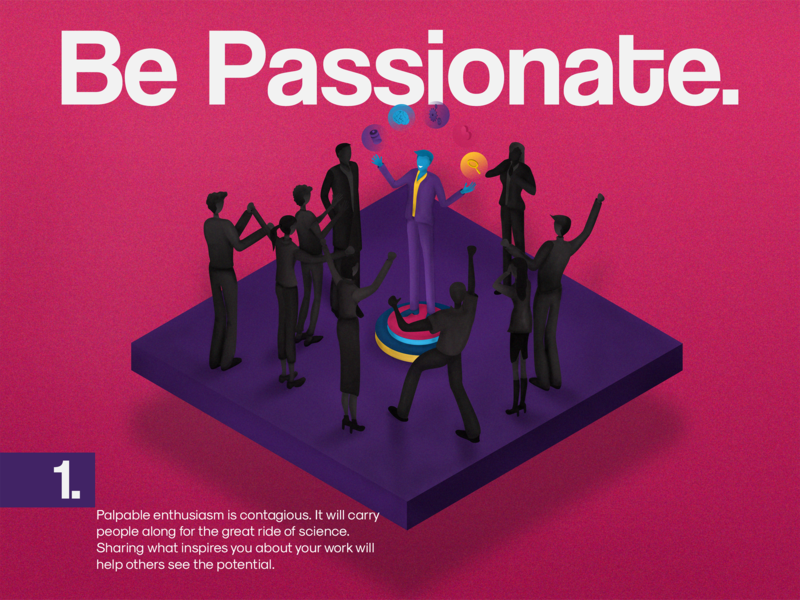 1. BE PASSIONATE brand mascot graphic design character adobe photoshop branding typography ideas followers passion isometry cartooning drawing abstract art isometric art leadership science isometric illustration