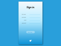 UI Daily 001 : Sign in