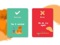UI Daily 011 : Flash Message (Success/Fail)