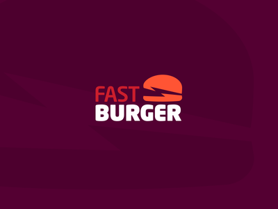 FAST BURGER logotype logo delivery food burger fast
