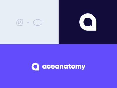 Ace Anatomy Logo (Rebound) vector logotype logo minimal design branding app anatomy rebound
