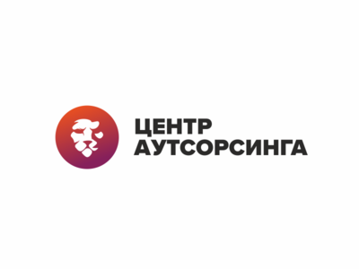 Центр Аутсорсинга Logo outsourcing logotype animal vector minimal design logo