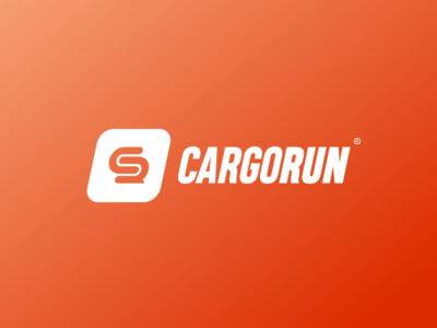 Concept logo for CargoRun logistics branding app minimal design run cargo vector logo