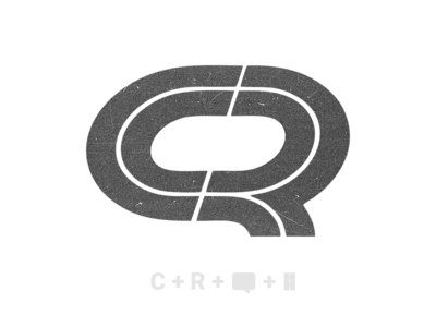 C + R concept logo CargoRun minimal design vector cargo run logo app branding logistics