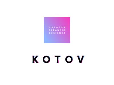 KOTOV LOGO branding vector logotype design minimal logo