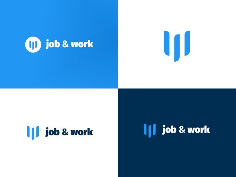 Job & Work logo branding vector minimal logotype design logo