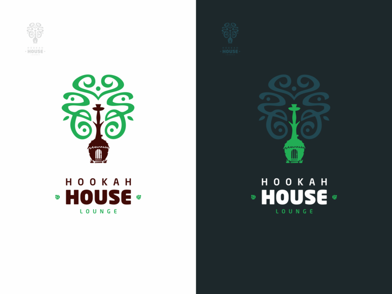 Hookah House Logo design minimal vector logo design house sochi logo hookah