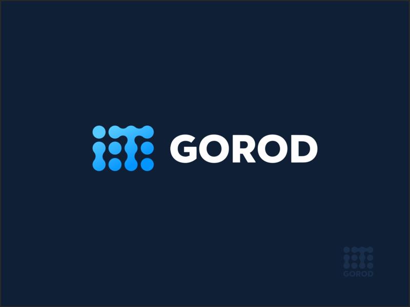 IT GOROD branding logotype vector design minimal it logo