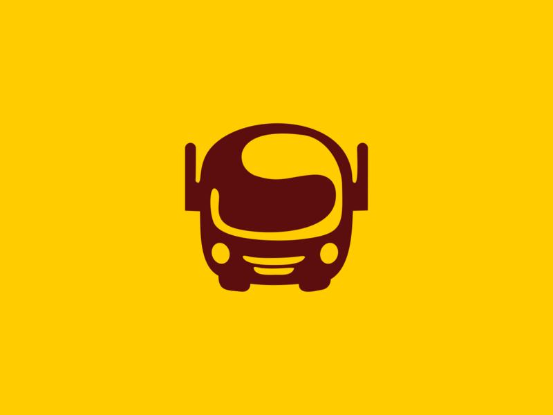 Digital transport logistics cargo it app branding logotype vector design minimal logo bus car transport digital