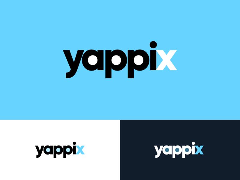 Yappix it app branding logotype vector minimal design logo