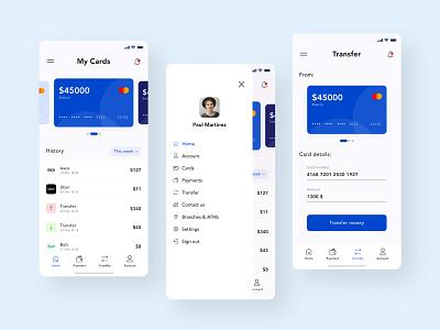 Online Banking Mobile App Design uiux mobile app design finance app mobile app online banking banking app website minimal app web ux ui design