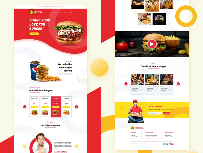Burger Shop Landing Page Design