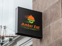 Amber Eat Logo Design