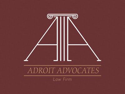 Adroit Advocates Logo 2 logo advocates law law firm ionic column