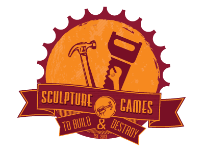 Sculpture Games Logo sculpture games logo round tools hammer saw wrench banner