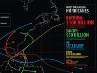 Hurricane Damage Cost Infographic