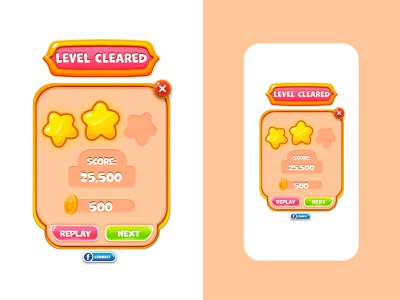 Casual Game UI pop up menu casual illustration flat design game popup ui