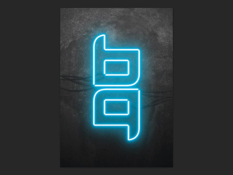 Personal branding - neon logo personal branding personal brand artwork poster neon graphic design