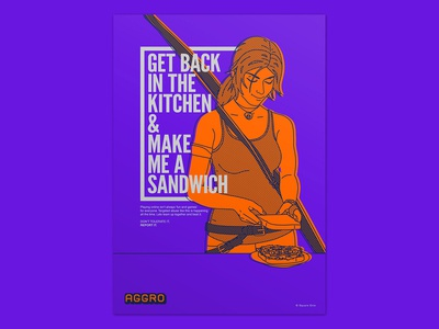 Aggro - Poster 01 / get back in the kitchen