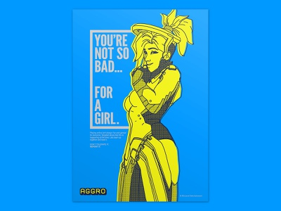Aggro - Poster 02 / you're not so bad... layout awareness call to action video game typogaphy illustraion poster graphic art graphic  design