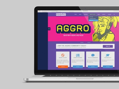 Aggro - Website mock-up awareness call to action website concept website ux ui layout graphic  design