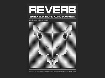 Reverb - Speakers & Dub briefbox layout typogaphy underground optical illusion poster graphic art graphic  design
