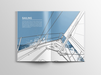 Sailing illustration for hobby book briefbox editorial design editorial art editorial illustration graphic  design