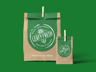Leafy Fresh - Bag briefbox product vintage badge vintage typogaphy illustration branding graphic  design