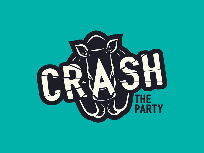 Crash the Party - Logo illustration typogaphy logo branding graphic  design