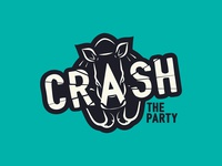 Crash the Party - Logo illustration typogaphy logo branding graphic  design