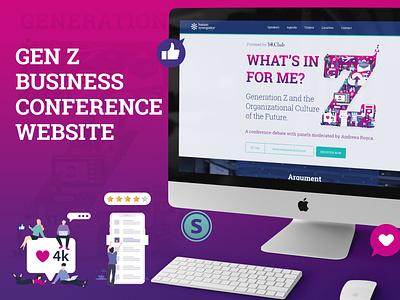 Generation Z Conference landing page website design landing page