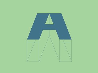 Letter A a letter graphic  design