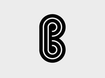 B Monogram letter icon symbol b monogram graphic design