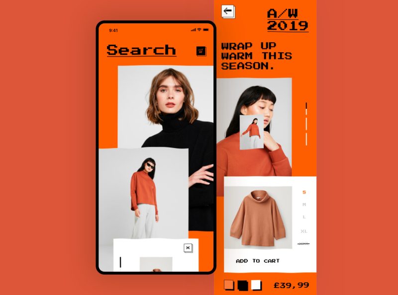 Fashion App Concept by Sergiu Mara on Dribbble