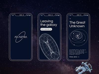 Space Odyssey - A space exploration concept app galaxy universe illustration sci-fi concept ui app exploration odyssey space